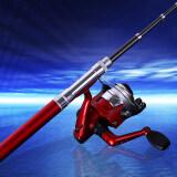 ขาย ซื้อ ออนไลน์ Mermaidknight Mini Telescopic Ice Fishing Rod 96Cm Portable Aluminum Alloy Pen Fish Spinning Rod Pole Red Intl