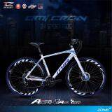 ซื้อ Mir จักรยานไฮบริด 700C ตัวถัง อลูมิเนียม ไซส์ 49 เกียร์ Shimano 24 สปีด รุ่น Omicron สีฟ้า ขาว ใน ไทย