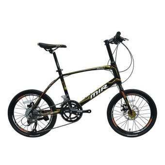 MIR จักรยาน MINI 20 นิ้ว ตัวถัง ALLOY เกียร์ SHIMANO ALTUS 18 SPEED รุ่น PERTITO (สีดำ/เหลือง)