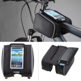 ส่วนลด Moonar Cycling Bike Bicycle Frame Pannier Front Pouch Saddle Double Bag Phone Holder 5 5 Inch