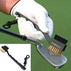 Moonar คู่คู่ขนแปรงทองเหลืองสายกอล์ฟคลับแปรงทำความสะอาดชุดเครื่องมือ-นานาชาติ.