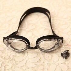 Mosha Fashions แว่นตาว่ายน้ำ สำหรับเด็ก เลนส์ใส (สีดำ) รหัส SWK2-01
