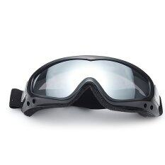 ราคา Motorcycle Cycling Mountain Climbing Skiing Protection Glasses Goggle Windproof Sports Sunglasses Safety Goggles Gray And Black Thinch เป็นต้นฉบับ