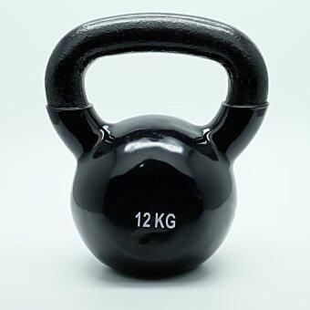 Mr.home เคตเทิลเบล kettlebell ยกน้ำหนัก แบบมีหู 12 kg. สีดำ (หุ้มยาง)