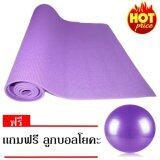 ขาย Mr Home เสื่อโยคะ Pvc สีม่วง บอลโยคะ สีม่วง ออนไลน์ Thailand