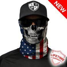 ราคา Multi Use Face Shields ™ Sa American Flag Skull ใหม่