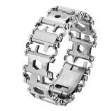 Multifunctional Bracelet Travel Friendly Wearable Multi Tool Stainless Steel Wristband Screwdriver Bottle Opener Outdoor Survival Emergency Tools Intl จีน
