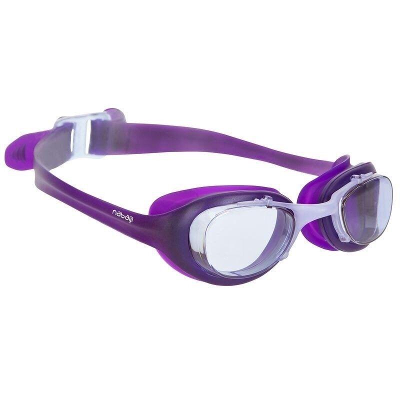 Nabaiji แว่นตาว่ายน้ำ XBASE - (สีม่วง)  มาตราฐานยุโรป