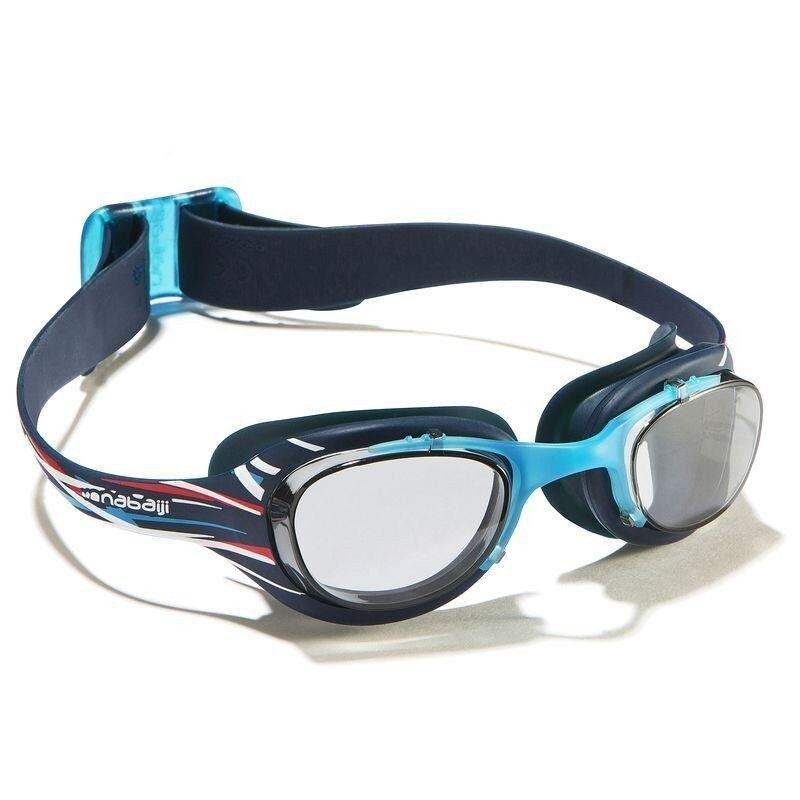 Nabaijiแว่นตาว่ายน้ำรุ่นXBASE PRINTขนาดL - (สีฟ้าMIKA)มาตราฐานยุโรป