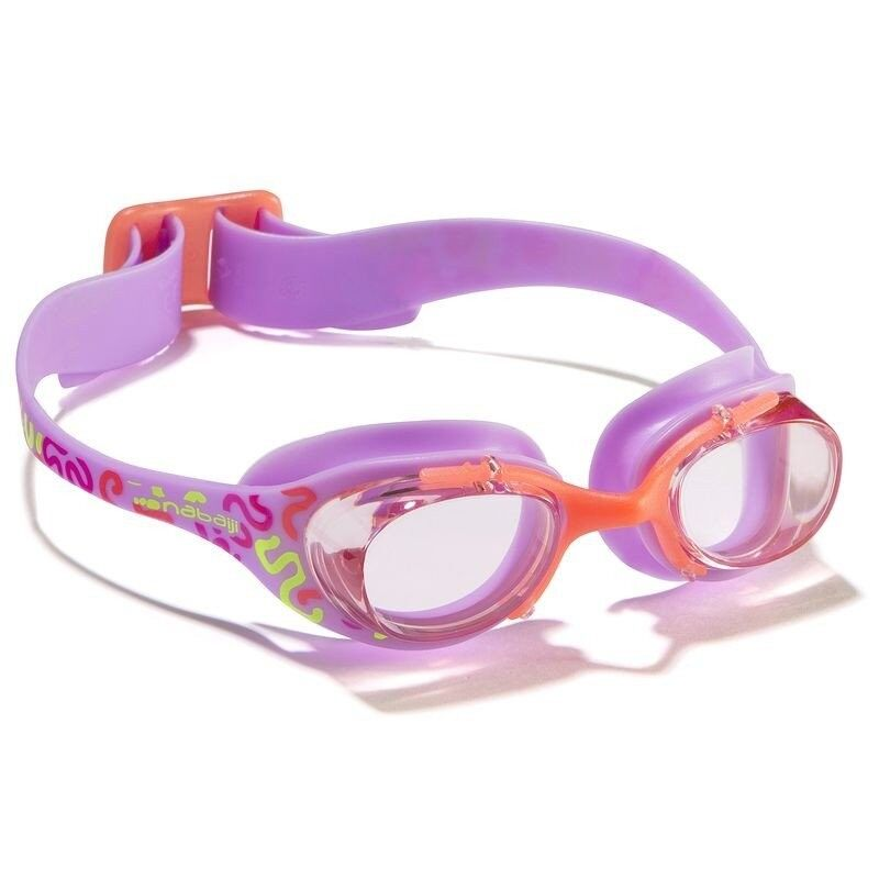 Nabaijiแว่นตาว่ายน้ำรุ่นXBASE PRINTขนาดS - (สีMEMPHIS PURPLE)