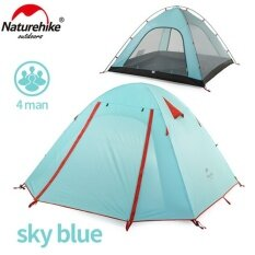 ราคา Naturehike 2 4 Person Outdoor Windproof Sleeping Units Hiking Double Layer Tent Rainproof Family Camping Tent Nh15Z003 P Intl เป็นต้นฉบับ