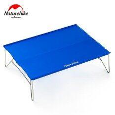 โปรโมชั่น Naturehike Aluminum Alloy Table Outdoor Durable Light Folding Stainless Steel Desk Camping Portable Tea Table 2 Colors Intl ใน สมุทรปราการ