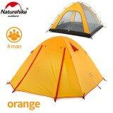 ส่วนลด สินค้า Naturehike Large Camping Tent 4 Person Ultralight Tents Outdoor Double Layer Waterproof Windproof Tent 3 Seasons Hiking Nh15Z003 P Intl