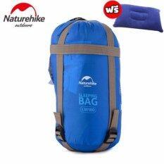 โปรโมชั่น Naturehike Sleeping Bag ถุงนอนตั้งแค้มป์ พกพาสะดวก แถมฟรี หมอนลม มูลค่า 400บาท สีฟ้า Naturehike ใหม่ล่าสุด