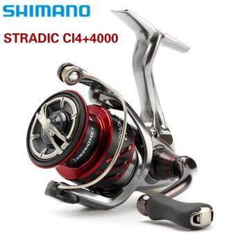 New Arrival Top Quality Shimano Stradic Ci4+4000 Series Spinning Reel with Front Drag (Black, 4000 Series) - intl-