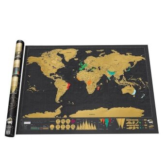 ใหม่หรูหราเดินทางฉบับฉบับที่ออกจากแผนที่โลก Poster สมุดบันทึกแผนที่ - นานาชาติ