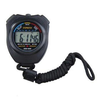 New Digital Running Timer Chronograph Sports Stopwatch Counter with Strap - intl
