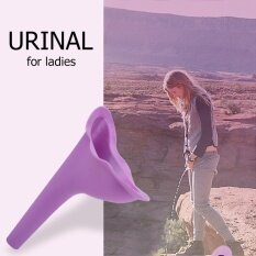 New Female Women Travel Camping Toilet Accessories Outdoor Portable Urinal Funnel (Purple) - intl