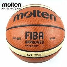 New Season 2015 2019 Official Original Molten Basketball Ball Gl7X Ball New Arrival Molten Pu Size 7 Basketball Gifts Net Needle Intl ใหม่ล่าสุด