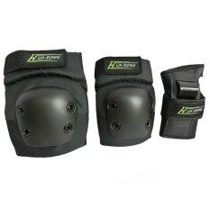 ขาย ซื้อ New Turtle Skating Skateboard Snowboard Extreme Sports Adjustable Elbow Guard Knee Pads Bracers For *d*lt 6 Pcs Intl