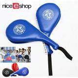 Niceeshop 2 คิกบ๊อกซิ่งคาราเต้เทควันโดเตะเบาะ ป ล การฝึกเตะเป้า สีน้ำเงิน ใน จีน