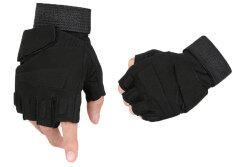 ราคา Niceeshop Half Finger Airsoft Hunting Riding Gloves Black ใหม่ล่าสุด