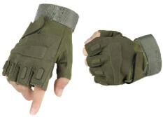 NiceEshopHalf-นิ้วถุงมือขี่ถุงมือ (สีเขียว, เอ็ม)