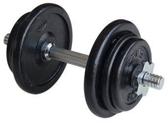 NK Fitness Dumbbell Setชุดดัมเบลแผ่นเหล็กขนาด 12 กก. - สีดำ