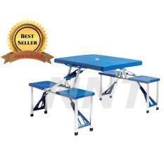 Nntโต๊ะเก้าอี้แบบ4ที่นั่ง พับได้ พับเล็ก พกพาสะดวก น้ำหนักเบา แข็งแรง ทนทาน รับน้ำหนักได้เยอะ By Nnt.