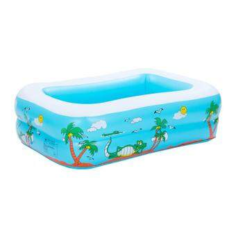 noion Babies Inflatable Swim Pool PVC Paddling Pools For Kids Blue Square