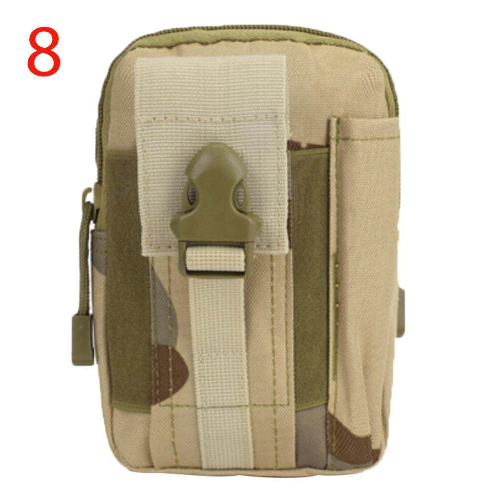 noion Men's Outdoor Camping Bag Hiking Pouch Military Army Waist Pack With Belt Loop ,Desert Camo