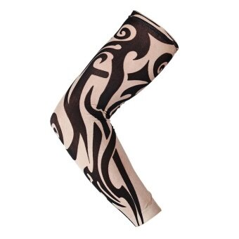 Nylon Elastic Temporary Tattoo Sleeve Designs Body Arm Stockings Tatoo Cool - intl