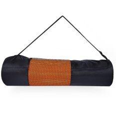 ส่วนลด Nylon Yoga Mat Mesh Bag With Braces For 4 X 61 Cm Yoga Mat For 4Mm Thickness 61Mm Width Black Timezone ใน Thailand