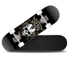 Ocean New Skateboards Long Board Four Round *d*lt And Children Vitality Board Unisex Black And Grey Intl ถูก