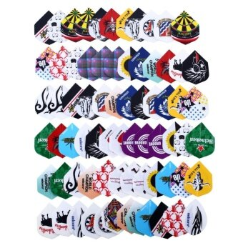 OEM 24 sets 72pcs 2D Cool Bling Dart Flights Darts Tail Sports Professional