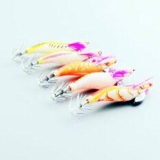 ราคา Oem 5Pcs Jigs Fishing Lure Shrimp Prawn Flick Luminous Squid Bait 8Cm 7 2G ที่สุด