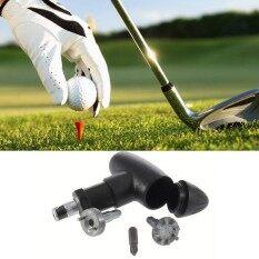 โอ้กอล์ฟมัลติฟังก์ชั่ลูกกอล์ฟเล็บใช้อุปกรณ์กอล์ฟ Divot เครื่องมือสีดำใหม่ - นานาชาติ.