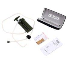 ราคา Oh Portable Outdoor Water Filter Purify Pump Outdoor Survivalhiking Camping Army Green Intl ใหม่
