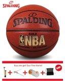ซื้อ Original Spalding 74 606Y Nba Endorsed Grip Control Indoor Outdoor Competition Official Size 7 Basketball Pu Material Basketball With Net Bag Pin And Inflator Intl ถูก จีน