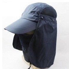 ราคา Outdoor 360 Uv Protection Sun Block Hat Folding Visor Fishing Nylon Cap Hiking Black Intl ออนไลน์