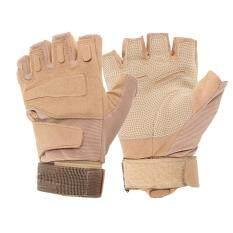 ขาย ซื้อ Outdoor Military Airsoft Hunting Paintball Cycling Army Gloves Khaki Xl Intl