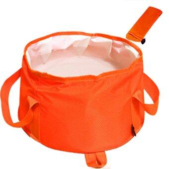 ถังเก็บน้ำแบบพับเก็บได้กลางแจ้งขนาดความจุสูงมากแคมปิ้งหม้อน้ำสีส้ม 15L-นานาชาติ