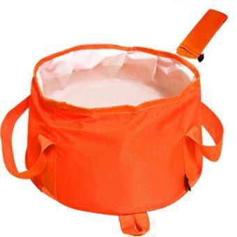 Outdoor Portable Folding water bucket Ultra-large Capacity Camping Hiking Water Pot Orange 25L - intl