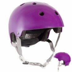 Oxelo หมวกกันน็อคสำหรับอินไลน์สเก็ต สเก็ตบอร์ด สกู๊ตเตอร์ และจักรยาน รุ่น Play 5 (สีม่วง).