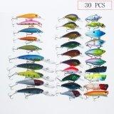 ขาย Paight 20 ชิ้น 2 แบบผสมเหยื่อตกปลาชุด 30 สี Minnow Fishing Hard Baits เบส Crankbait Sharp Hooks Tackle ราคาถูกที่สุด