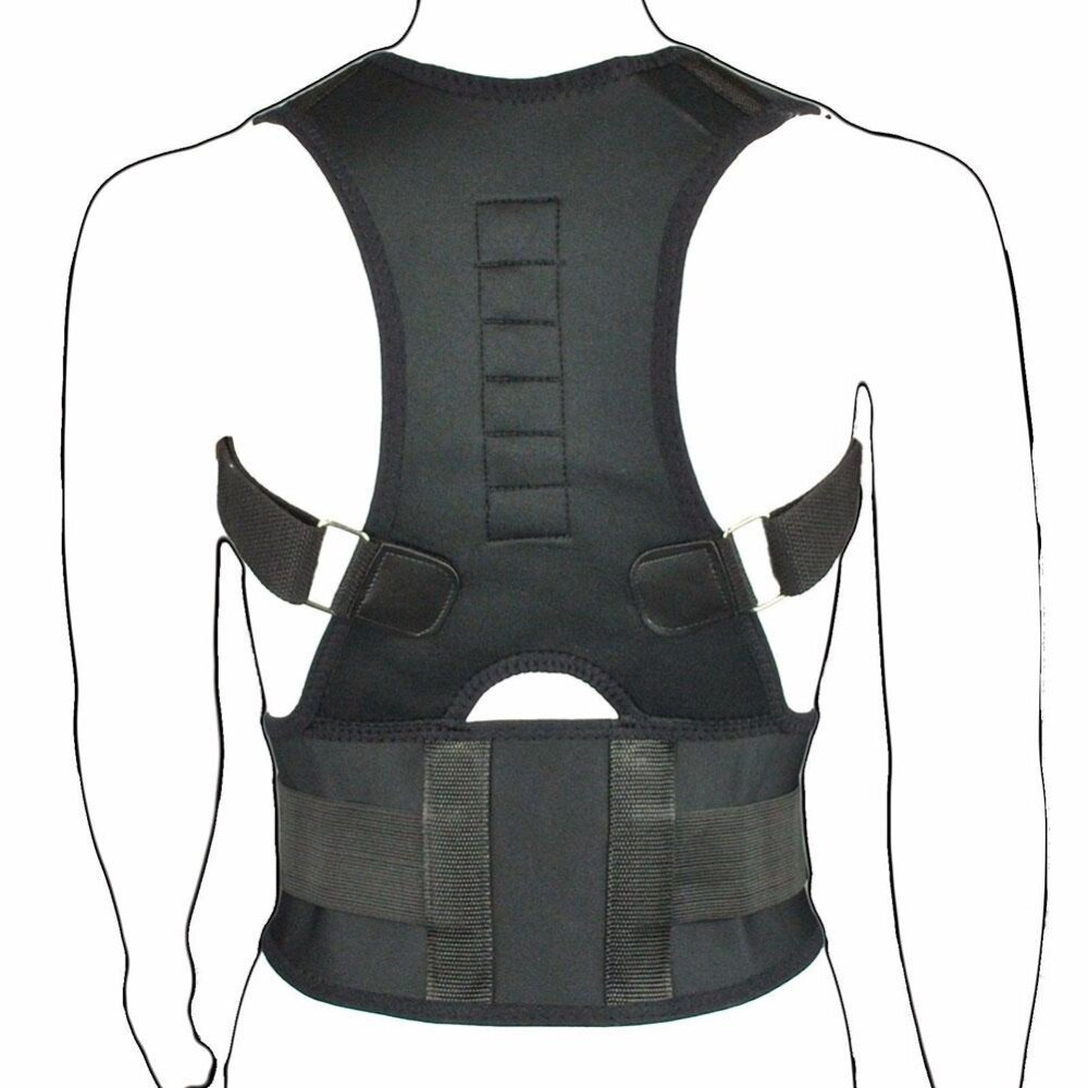รีวิว PAlight Sitting Posture Corrector Adjustable Magnetic Shape Body Shoulder Brace Belt(L) – intl