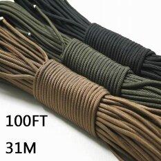 ราคา Paracord 550 Parachute Cord Lanyard Rope Mil Spec Type Iii 7 Strand 100Ft 31M Climbing Camping Survival Equipment Climbing Rope(Brown) Intl ใน จีน