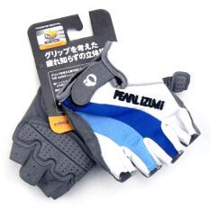 ซื้อ Pearl Izumi ถุงมือจักรยานครึ่งนิ้ว สีขาวฟ้า White Blue Pearl Izumi
