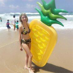 ขาย ซื้อ Inflatable Pineapple Giant Floating Bed Pool Pvc Material General *d*lt Children Swimming Ring Water Recreation Leisure Chair Sports Outdoor Intl ใน จีน