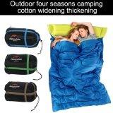 ราคา Portable Creative Envelope Shape Double Sleeping Bag With Pillow For Camping Hiking Navy Blue Intl เป็นต้นฉบับ